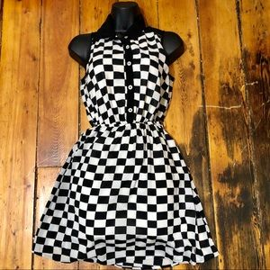 Rhpsody checkered dress black and white!